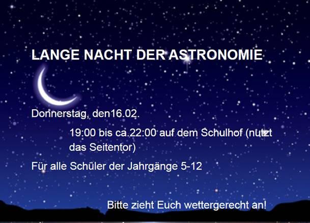 Lange Nacht Der Astronomie